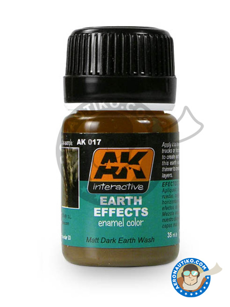 Dark Earth | AK Weathering efect product manufactured by AK Interactive (ref.AK-017) image