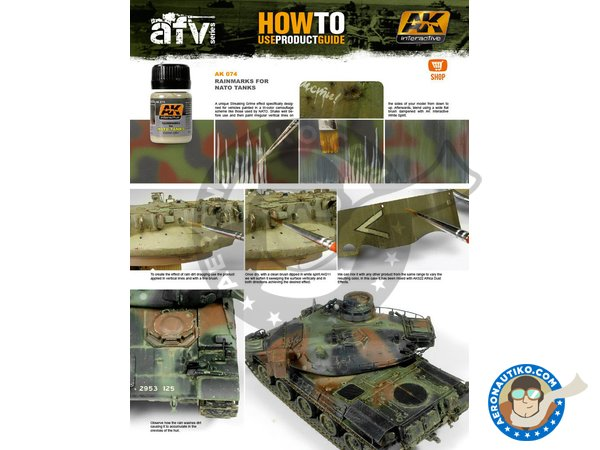 Image 1: Rain Marks for NATO Tanks | AK Weathering efect product manufactured by AK Interactive (ref.AK-074)