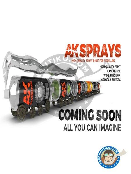 Fine Metal Primer | New June 2018 | Spray manufactured by AK Interactive (ref.AK-1016) image