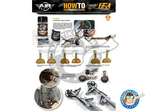 Image 1: Aircraft Landing Gear Weathering Set |Air Series New 2018 | Paints set manufactured by AK Interactive (ref.AK-2030)