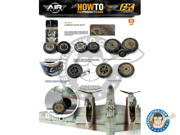 Image 2: Aircraft Landing Gear Weathering Set |Air Series New 2018 | Paints set manufactured by AK Interactive (ref.AK-2030)