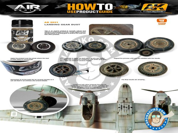 Image 1: Landing gear dust. | Air Series manufactured by AK Interactive (ref. AK-2031)