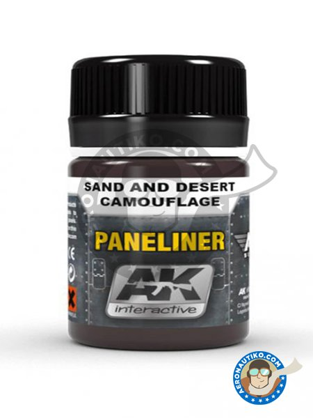 Paneliner for san and desert camouflage. | Air Series manufactured by AK Interactive (ref. AK-2073) image