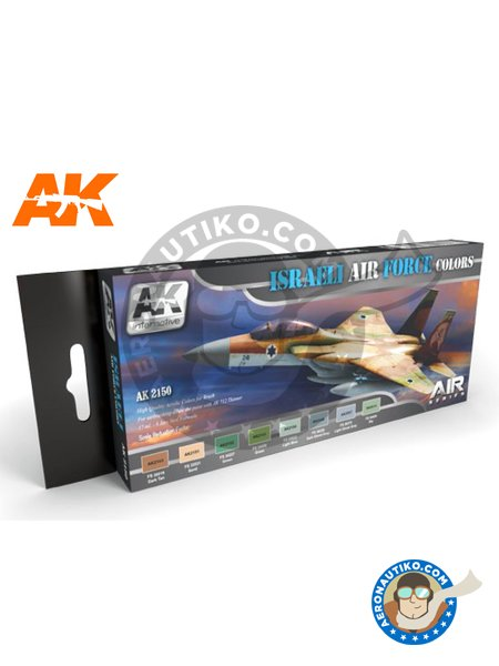 Israeli Air Force Colors set | New May 2018 | Air Series Set manufactured by AK Interactive (ref. AK-2150) image