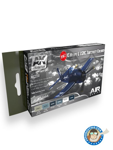 WW2 US NAVY and USMC Aircraft Color | Paints set manufactured by AK Interactive (ref. AK-2230) image