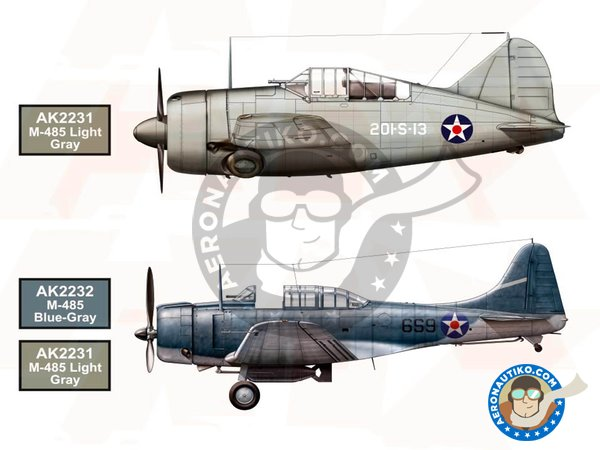 Image 1: WW2 US NAVY and USMC Aircraft Color | Paints set manufactured by AK Interactive (ref. AK-2230)