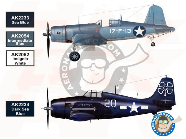 Image 2: WW2 US NAVY and USMC Aircraft Color | Paints set manufactured by AK Interactive (ref. AK-2230)