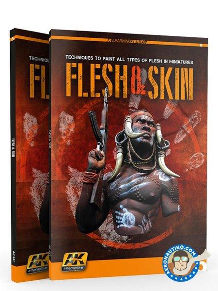 Book Flesh & Skin. AK Learning Series | Book manufactured by AK Interactive (ref.AK-241) image