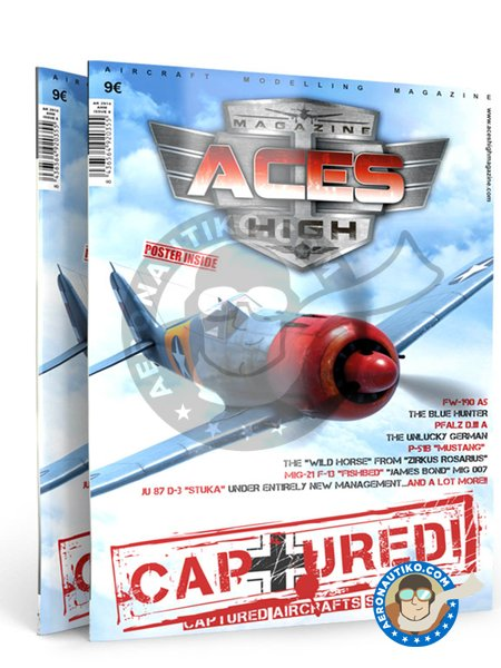 Magazine Aces High Captured Issue 8 | Book manufactured by AK Interactive (ref.AK-2914) image