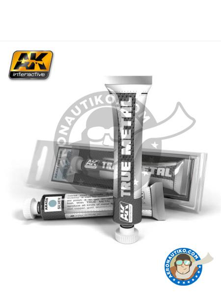 Silver. True Metal | AK True Metal product manufactured by AK Interactive (ref.AK-458) image