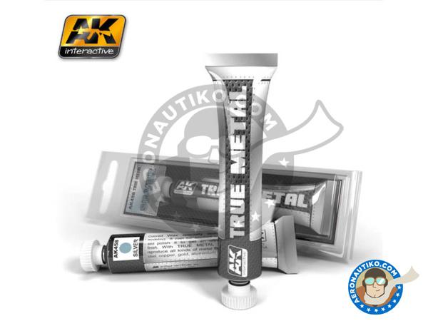 Image 1: Silver | AK True Metal product manufactured by AK Interactive (ref.AK-458)