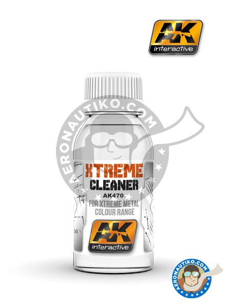 Xtreme cleaner | Xtreme metal paint manufactured by AK Interactive (ref. AK-470) image