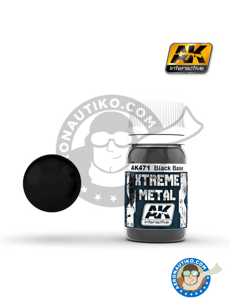 Black base | Xtreme metal paint manufactured by AK Interactive (ref. AK-471) image