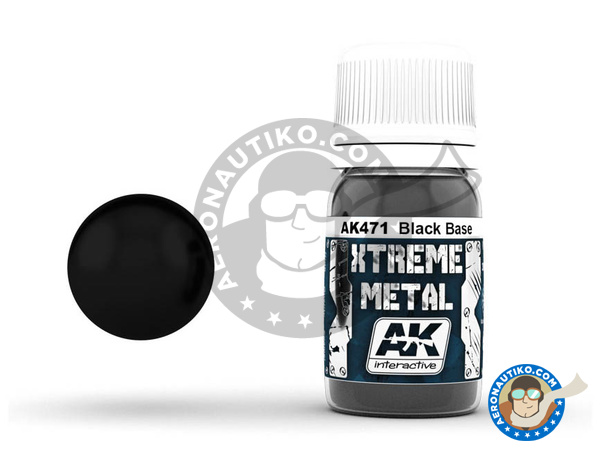 Image 1: Black base | Xtreme metal paint manufactured by AK Interactive (ref. AK-471)