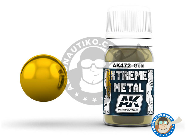 Image 1: Gold | Xtreme metal paint manufactured by AK Interactive (ref. AK-472)