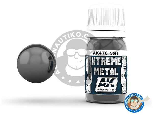 Image 1: Steel | Xtreme metal paint manufactured by AK Interactive (ref. AK-476)