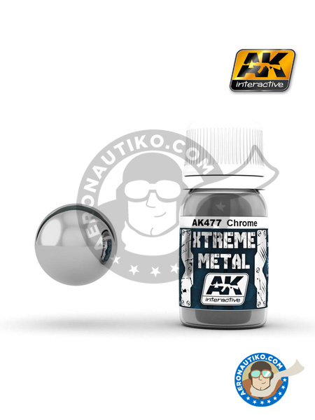 Chrome | Xtreme metal paint manufactured by AK Interactive (ref. AK-477) image