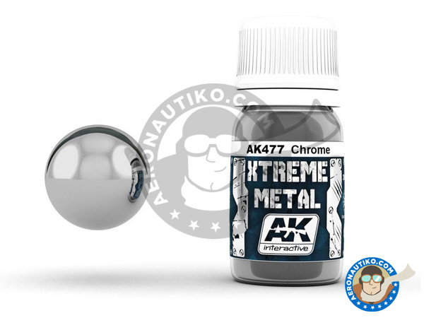 Image 1: Chrome | Xtreme metal paint manufactured by AK Interactive (ref. AK-477)