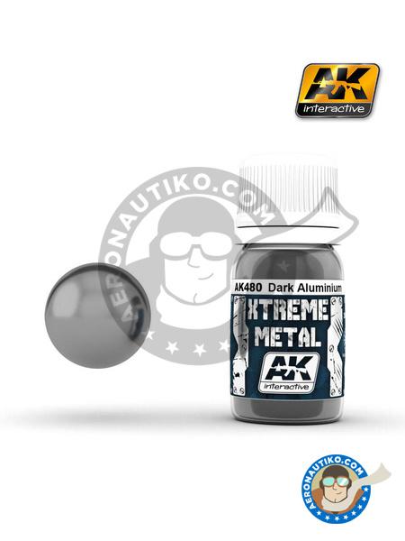 Dark aluminium | Xtreme metal paint manufactured by AK Interactive (ref.AK-480) image