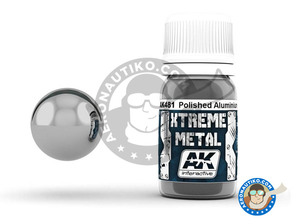 Image 1: Polished aluminium | Xtreme metal paint manufactured by AK Interactive (ref.AK-481)