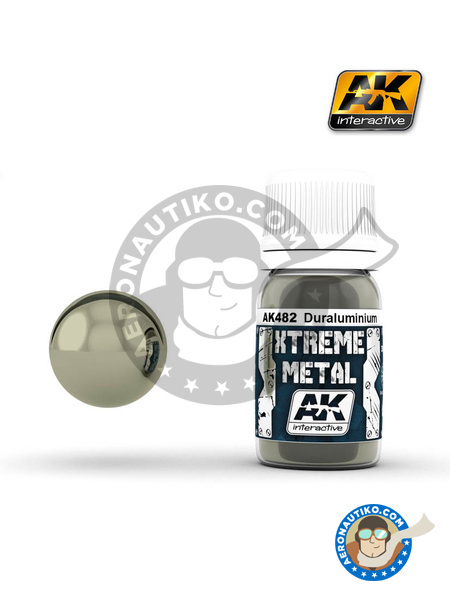 Duraluminium | Xtreme metal paint manufactured by AK Interactive (ref. AK-482) image