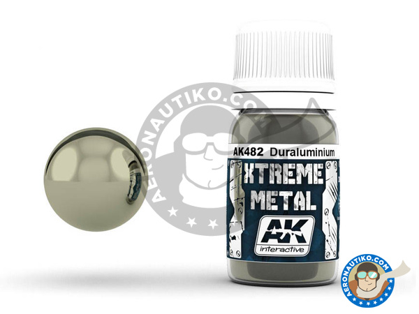 Image 1: Duraluminium | Xtreme metal paint manufactured by AK Interactive (ref. AK-482)