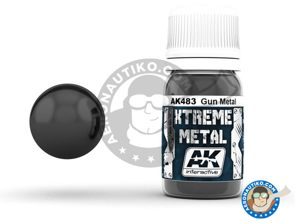 Image 1: Gun metal | Xtreme metal paint manufactured by AK Interactive (ref. AK-483)