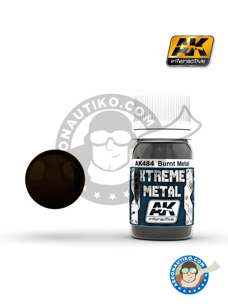 Burnt metal | Xtreme metal paint manufactured by AK Interactive (ref. AK-484) image