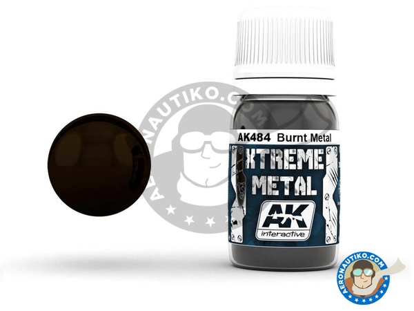 Image 1: Burnt metal | Xtreme metal paint manufactured by AK Interactive (ref. AK-484)