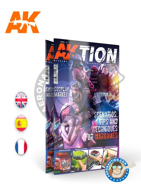 AKTION Nº1: The Wargame magazine | Magazine manufactured by AK Interactive (ref. AK-6301) image