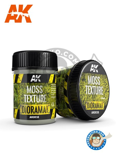 Diorama Series: Moss Texture | Textures and Dioramas manufactured by AK Interactive (ref. AK-8038) image