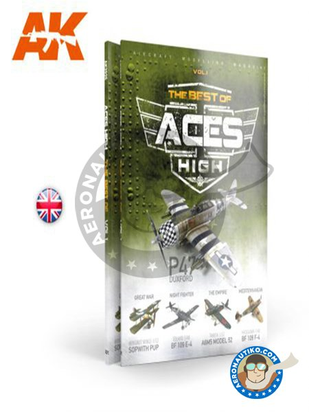 The best of: ACES HIGH MAGAZINE – VOL1 English language | Book manufactured by AK Interactive (ref. AK2925) image