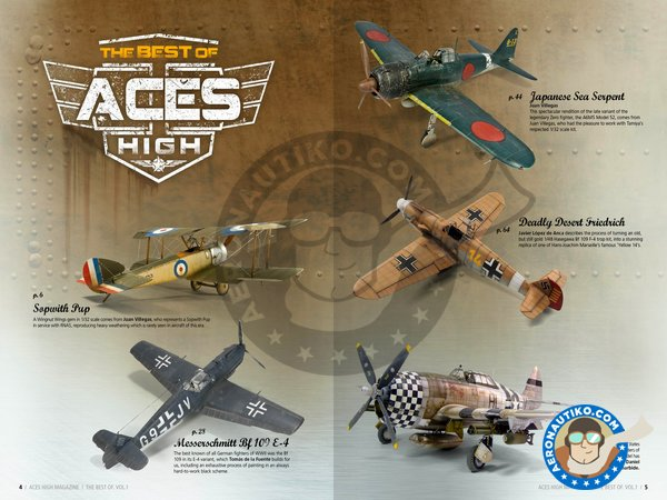 Image 2: The best of: ACES HIGH MAGAZINE – VOL1 English language | Book manufactured by AK Interactive (ref. AK2925)