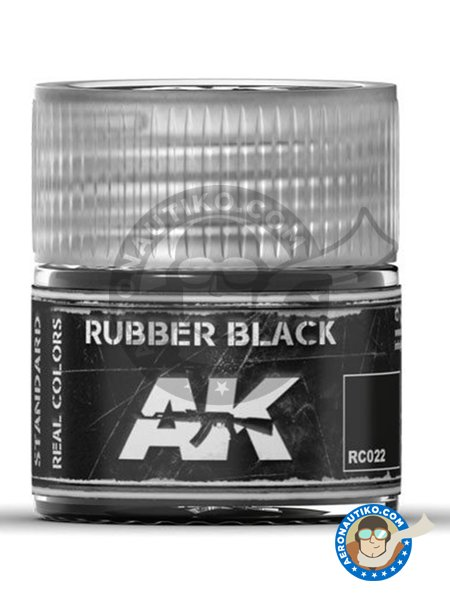 Rubber black. | Real color manufactured by AK Interactive (ref.RC022) image