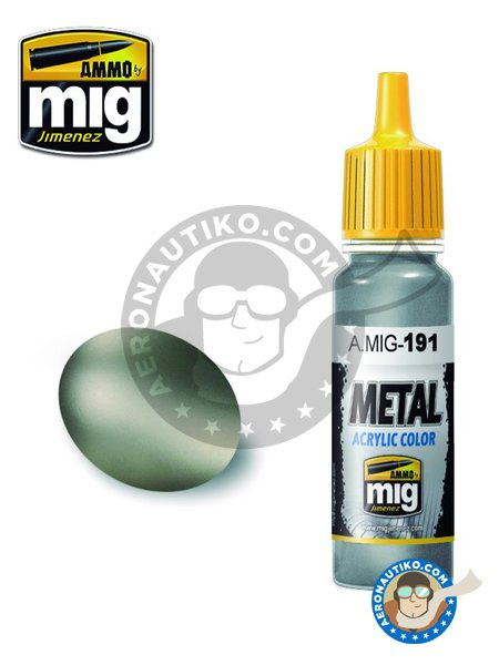 Steel Color | Acrylic Metal Colors | Acrylic paint manufactured by AMMO of Mig Jimenez (ref.A.MIG-191) image