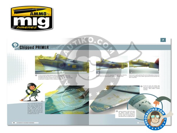 Image 6: Modelling School: Initiation to Aircraft Weathering | Book manufactured by AMMO of Mig Jimenez (ref. A.MIG-6030)