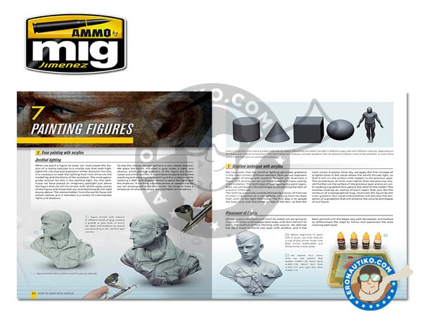 Image 4: Modelling Guide: How To Paint With Acrylics | Book manufactured by AMMO of Mig Jimenez (ref.A.MIG-6040)