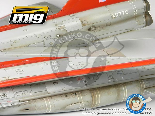 Image 5: Metallic Airplanes & Jets | Weathering Sets | Paints set manufactured by AMMO of Mig Jimenez (ref. A.MIG-7423)