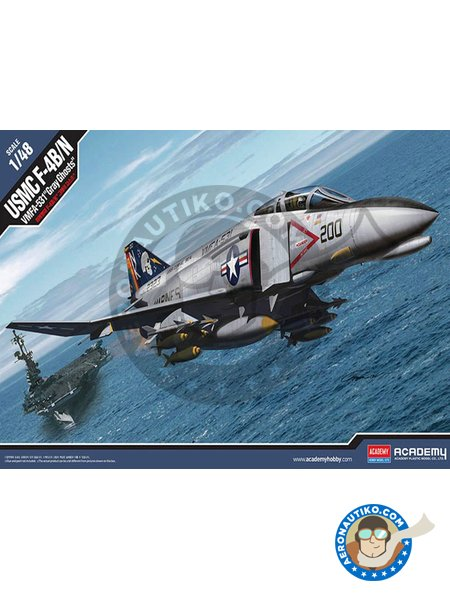 McDonnell F-4 Phantom II J | Airplane kit in 1/48 scale manufactured by Academy (ref. 12315) image