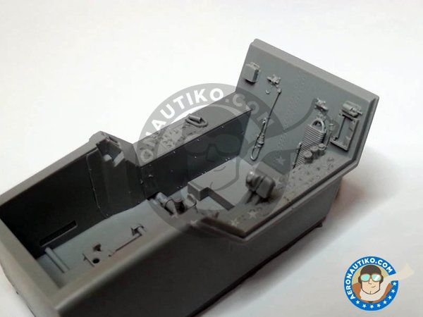 Image 1: F/A-18C Hornet cockpit set | Cockpit set in 1/32 scale manufactured by Aires (ref. AIRES-2035)