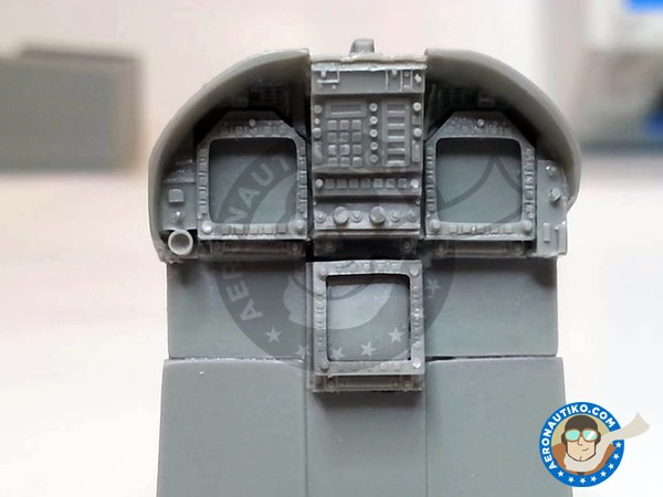 Image 5: F/A-18C Hornet cockpit set | Cockpit set in 1/32 scale manufactured by Aires (ref. AIRES-2035)