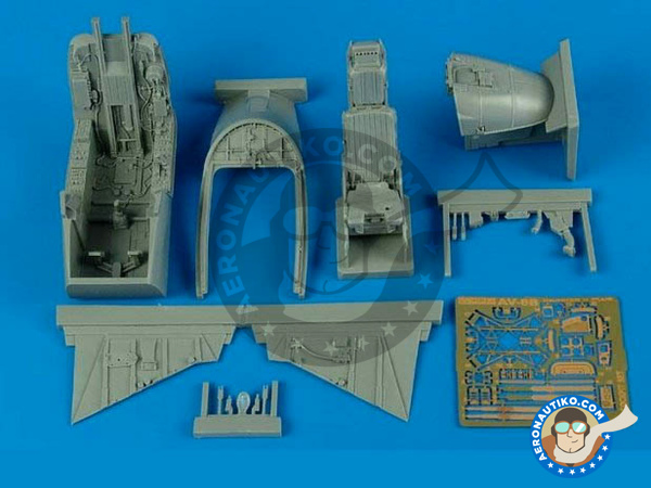 Image 1: McDonnell Douglas AV-8B II II Plus | Cockpit set in 1/32 scale manufactured by Aires (ref.AIRES-2171)