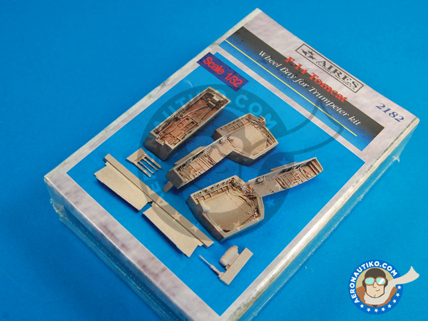 Image 1: Grumman F-14 Tomcat | Wheel bay in 1/32 scale manufactured by Aires (ref. AIRES-2182)