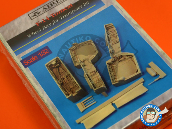 Image 3: Grumman F-14 Tomcat | Wheel bay in 1/32 scale manufactured by Aires (ref. AIRES-2182)
