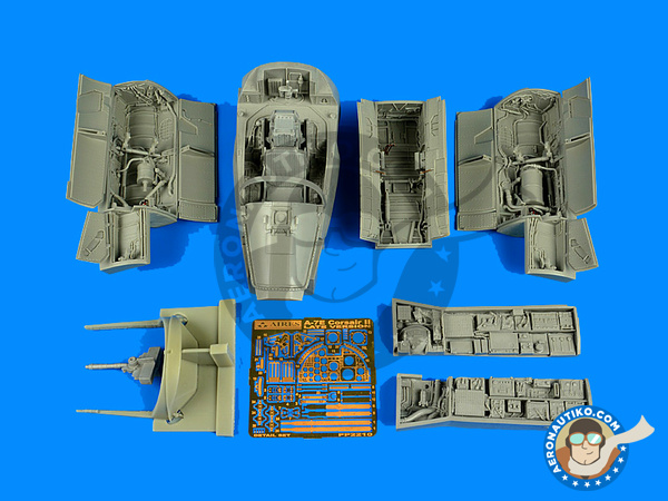 Image 1: Ling-Temco-Vought A-7 Corsair II E Late   Detail up set in 1/32 scale manufactured by Aires (ref.AIRES-2210)