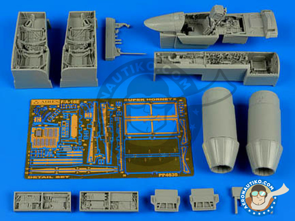 Image 2: McDonnell Douglas F/A-18 Hornet E | Detail up set in 1/48 scale manufactured by Aires (ref. AIRES-4635)