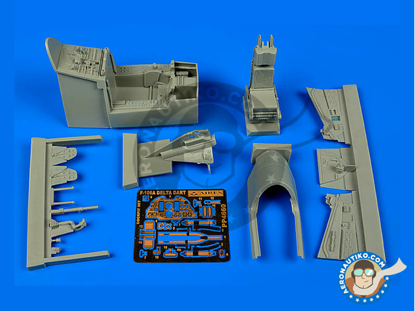 Image 1: Convair F-106 Delta Dart A | Cockpit set in 1/48 scale manufactured by Aires (ref. AIRES-4660)