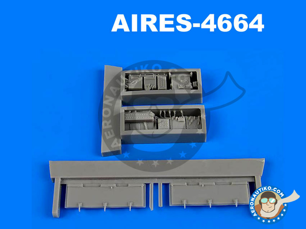Image 1: Panavia Tornado IDS | Electronic bay in 1/48 scale manufactured by Aires (ref. AIRES-4664)