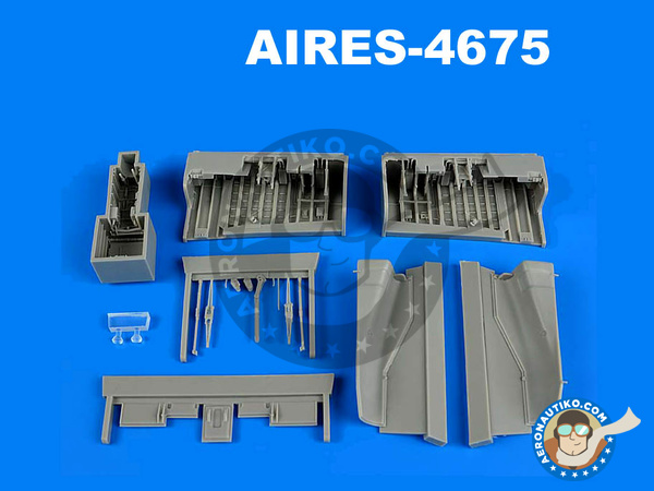 Image 1: Panavia Tornado IDS | Wheel bay in 1/48 scale manufactured by Aires (ref.AIRES-4675)