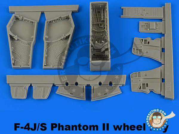 Image 1: McDonnell Douglas F-4 Phantom II J / S | Wheel bay in 1/48 scale manufactured by Aires (ref. AIRES-4681)